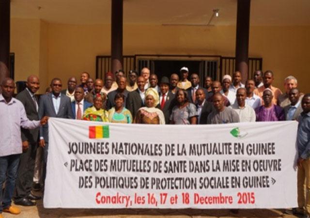 A l'occasion des Journées nationales de la Mutualité en Guinée Conakry tenues à Conakry du 16 au 18 Décembre 2015, les mutuelles de santé guinéennes ont marqué leur engagement dans le processus de mise en place de la CMU