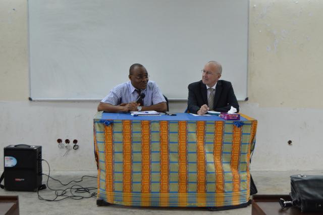 Aux côtés de Touré Laciné le PASS participe à la formation d'étudiants ivoirien (licence 3) - 25 Aout 2016 à Abidjan