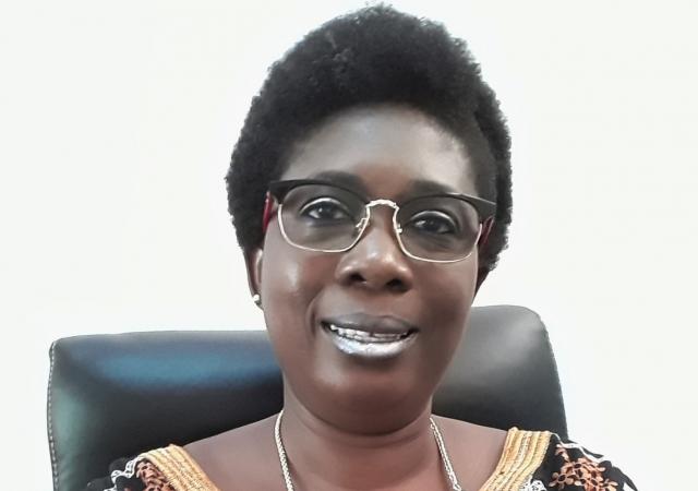 OUEDRAOGO Sandrine, Présidente de la Mutuelle des Travailleurs du Conseil Supérieur de la Communication (MT/CSC) du Burkina Faso