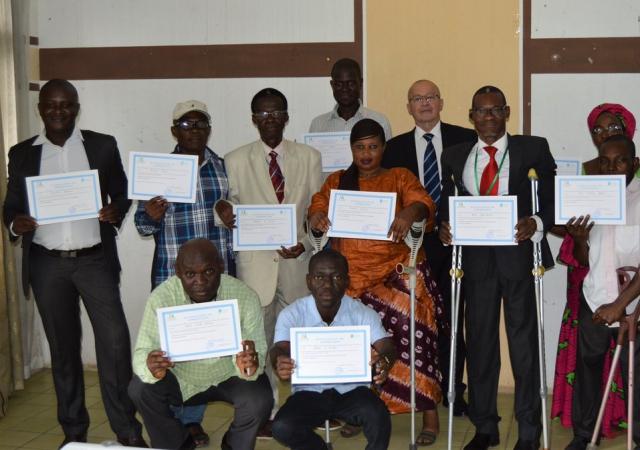 Session de formation avec la mutuelle des personnes handicapées de Côte d'Ivoire - 08 mai 2018 à Abidjan (Côte d'Ivoire)