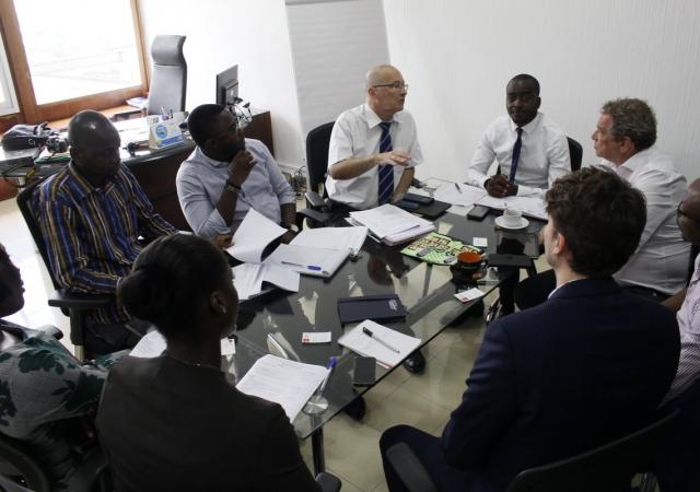 Visite de solidarité Laïque dans les locaux du Pass - 05 Novembre 2018 à Abidjan (Côte d'ivoire)