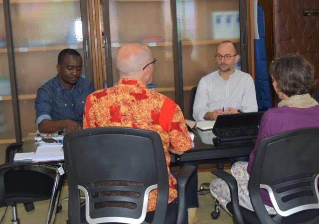 Visite de Thierry Beaudet,, président de la Mutualité Française à l'équipe du Pass - 19 Janvier 2019 à Abidjan (Côte d'Ivoire)