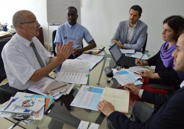 La Direction des Relations Internationales de l'Université de Paris 1 Panthéon-Sorbonne au siège du Pass - 24 Mai 2019 à Abidjan (Côte d'Ivoire)