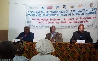Le CNCMUT termine sa tournée de sensibilisation nationale sur la mutualité sociale - 29 Décembre 2016 à Tsévié (Togo)