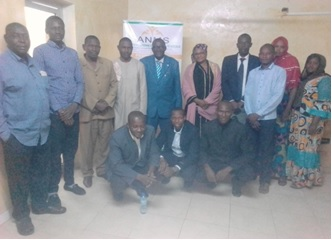 Prise de contact à l'ANMS entre son PCA et le personnel - 09 Janvier 2018 Niamey (Niger)