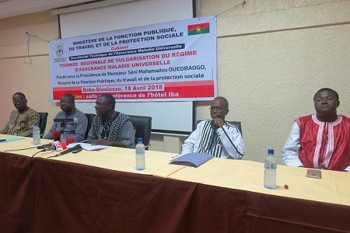 Les acteurs burkinabés de l'Assurance Maladie Universelle en campagne de vulgarisation dans le pays - 23 Avril 2018 (Burkina Faso)