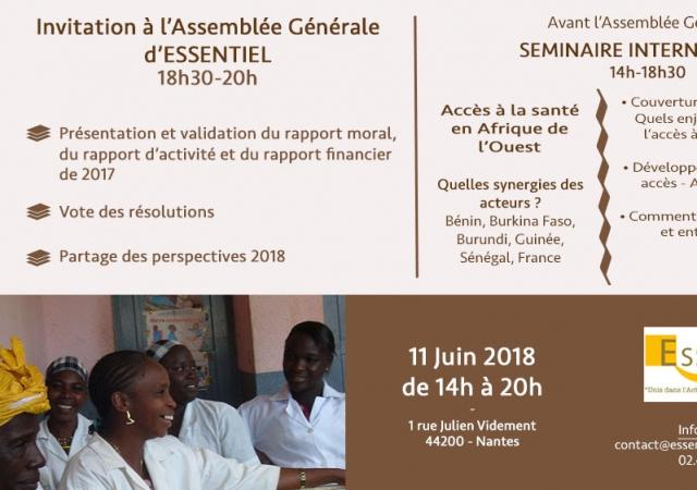 Conférence de l'Ong Essentiel sur l'accès aux soins de santé en Afrique