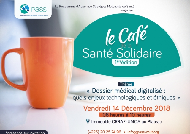 Le Pass présente la 1ère édition du ''Café de la santé solidaire'' - 14 Décembre 2018