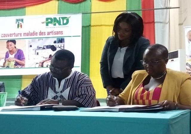 Couverture maladie universelle au Togo, les artisans sont désormais assurés - 14 mai 2019 à Lomé (Togo)
