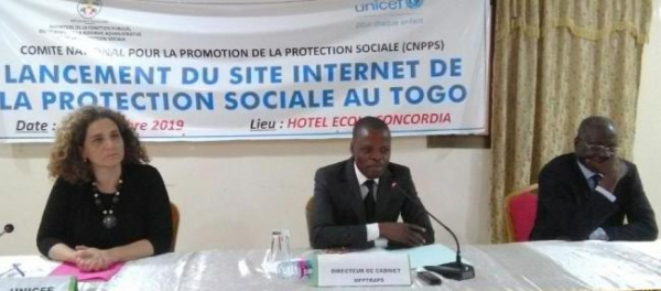 Le gouvernement togolais se dote d'un nouveau portail d'information, entièrement dédié à la protection sociale - 15 Novembre 2019 à Lomé (Togo)